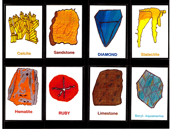 rock and mineral trading cards