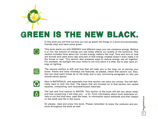 paragraph on go green