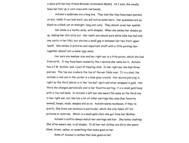 Descriptive essay about fall season