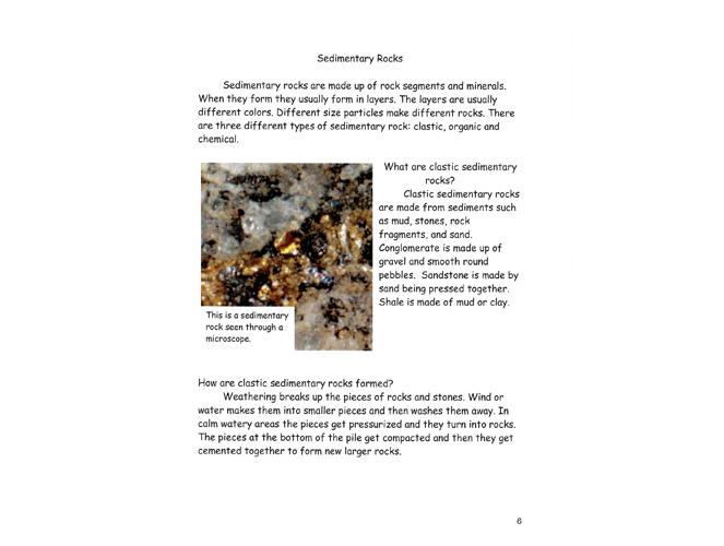 Geology writing sites