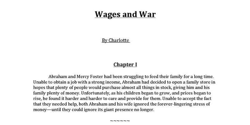 Wages and War 1