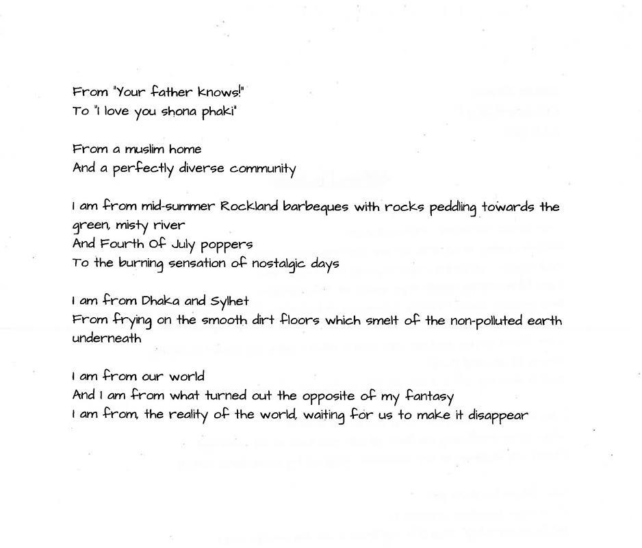 Sarah's Poem