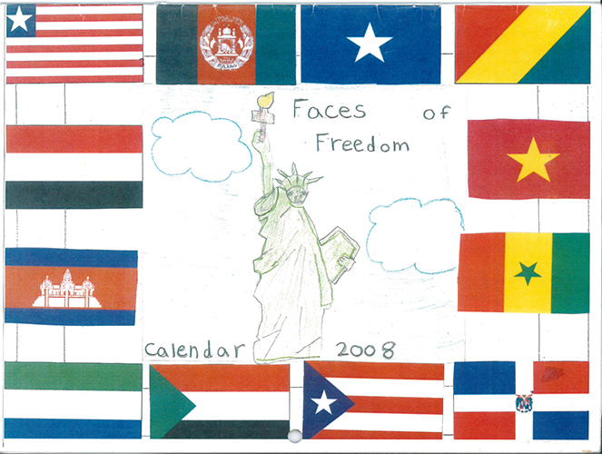 Faces Of Freedom Calendar Models Of Excellence